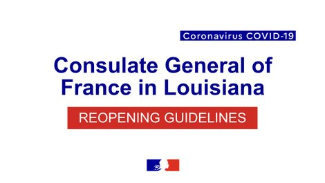 Covid-19 | Reopening guidelines for the Consulate General of (...)