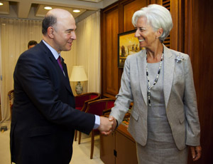 Pierre Moscovici, Minister of Economic Affairs and Finance and Christine Lagarde, Executive Managing Director of the IMF (photo IMF) - JPEG