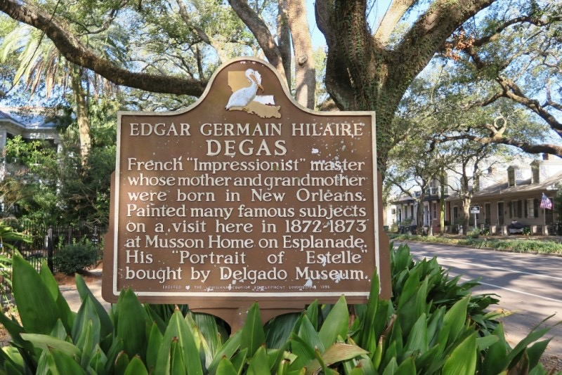 Degas House Historic Marker - JPEG